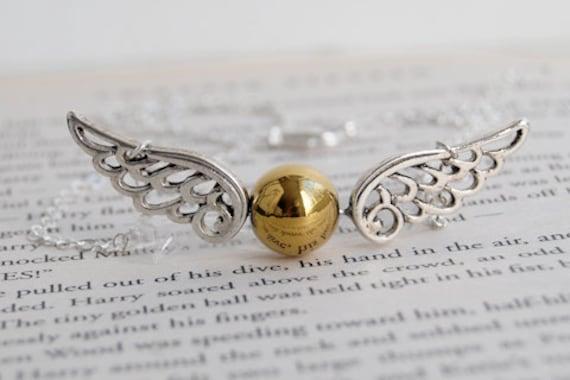 Seeker's Quest | Golden Snitch Necklace | Harry Potter Necklace