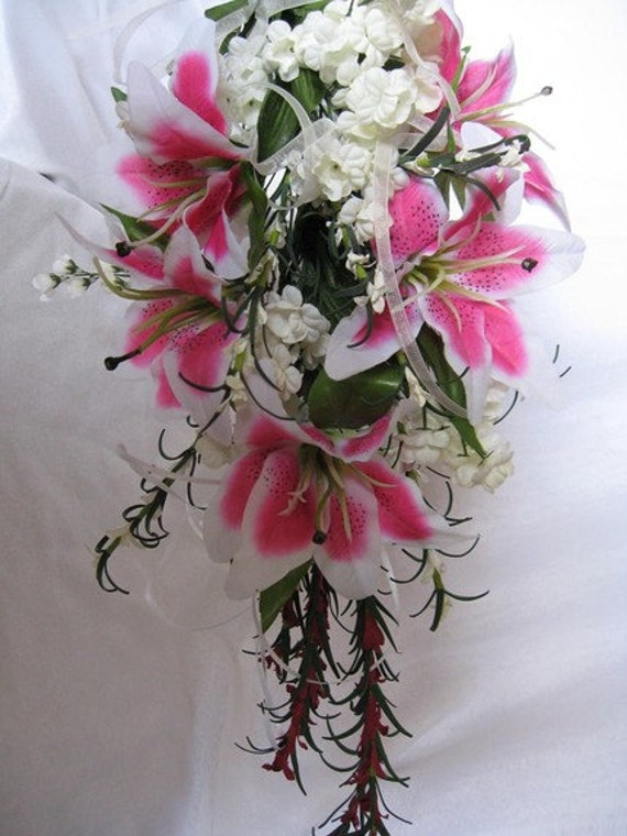 stargazer lilies wedding bouquets items similar to pink stargazer bridal bouquet 7694