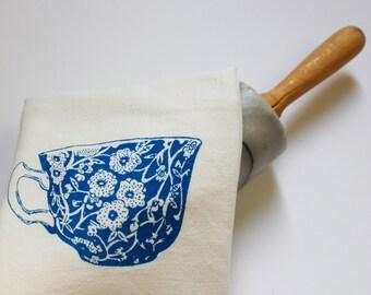 Tea Cup - Flour Sack Dish Towel