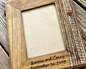 Birch Trees - Personalized Wedding or Anniversary Picture Frame- Rustic Photo Frame