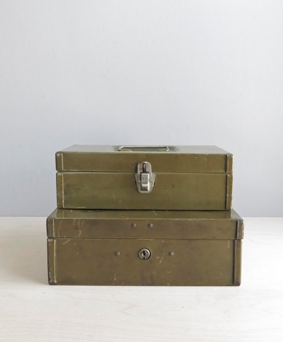 industrial storage boxes / set of two