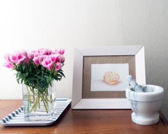 Commission - A - Donut: Custom Doughnut Watercolor Art Made-to-Order for a Donut Lover's Kitchen, Bedroom, Nursery, Office