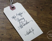 Hand Lettered Tags, Place Cards, and Escort Cards