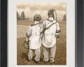 Baseball Boys - archival watercolor print by Tracy Lizotte