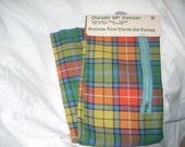 Vintage Scottish Souvenir Wool Tartan Buchanan NOS