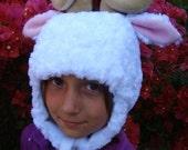 Sheep Hat, Spiral Horned ram earflap animal hat