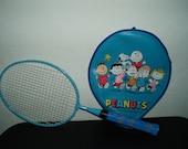 Vintage Blue Peanuts Children's Tennis Racquet
