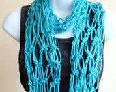 Aqua Springs Infinity Scarf Accessories Women Crochet