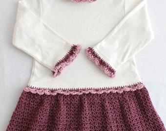 Petite Shells T-Shirt Dress Crochet Pattern PDF