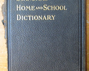 Single Cover to a Vintage Dictionary