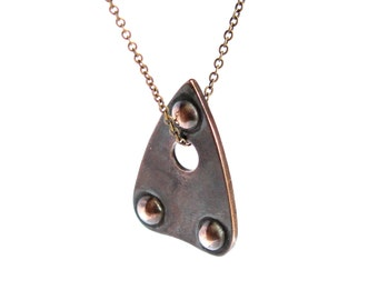 Planchette Necklace Mystic Oracle Ouija Planchette Pendant in Solid Bronze 291