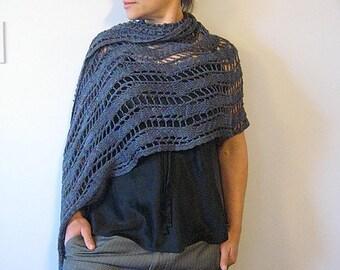 blue merino wrap (Elementals I - Water)