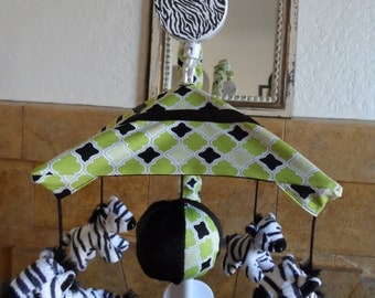 Zebra Zone Baby Crib Mobile (other animals available too)