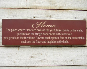 Home - where we live sign