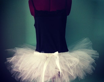 Jolie - Custom Classic style Half Pouf tulle skirt - Sewn tutu - in your choice of colors and length