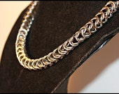 Classic Chainmail choker stainless steel Box Chain weave punk rock