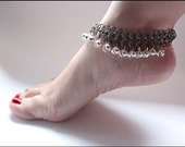 BELLS  Belled Anklet  Stainless Steel Chainmail bellydancing silver