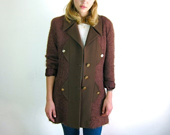 Brown Avant Garde 80s Coat