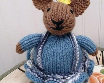 Hand Knitted Bunny, Stuffed Animal, Stuffed Rabbit, Stuffed Bunny, Toy