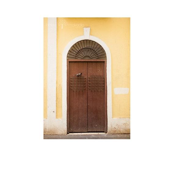 Old San Juan Wall Decor : Wooden door photograph pigeon old san juan doors yellow