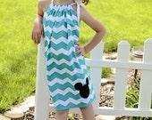 Mickey Mouse Inspired Chevron Pillowcase Dress Size 5-8