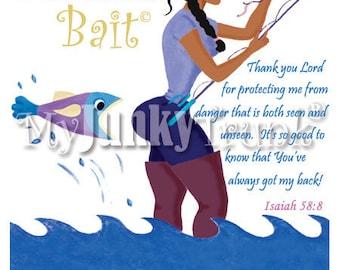 Beautiful Bait- African American Art Black Art Inspirational Fishing Print