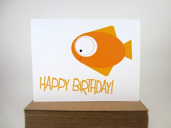Birthday Card Design – Fish Birthday Cards