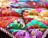 SALE - patchwork baby quilt made from Kaffe Fassett fabrics