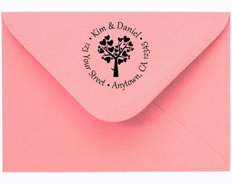 Personalized Custom Made Return Address Stamp and Name Rubber Stamp R108