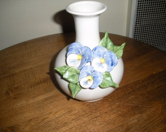 Relief Pansy Vase