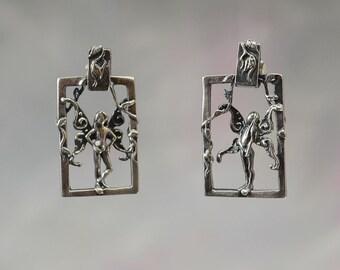 Enchanting Faerie Friend Earrings in Sterling Silver