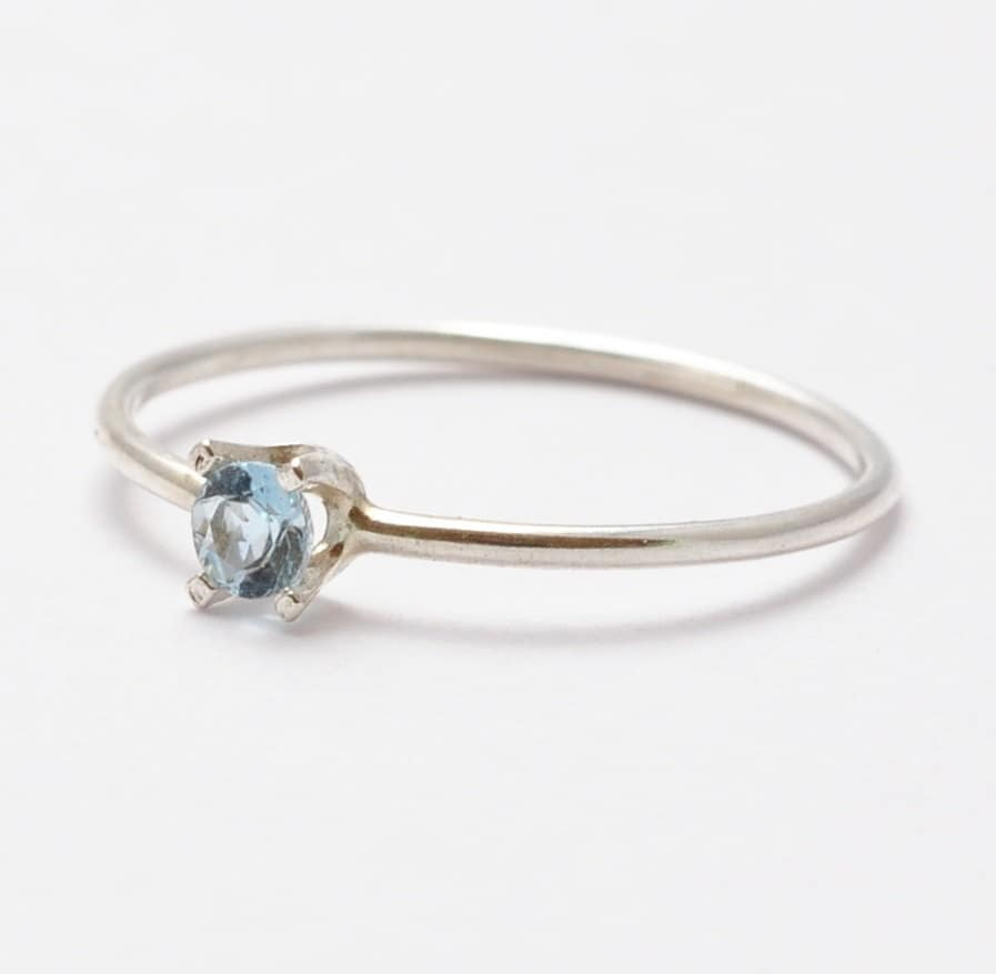 aquamarine ring simple sterling silver gifts for teenagers