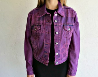 The Floral Aztec Dyed and Lasered Levis Jacket