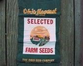 Ohio Harvest Brand Selected Farm Seed - VINTAGE Seed Bag - Ohio Seed Co.- Pre GMO Seeds - DesignerKy