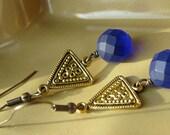 Cobalt Blue Triangle
