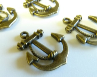 Bronze Anchor Charms