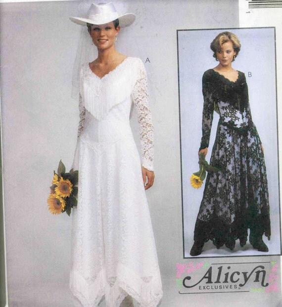 Western Wedding Dresses: McCalls 8057 Misses Western Wedding Dress Sewing Pattern Size