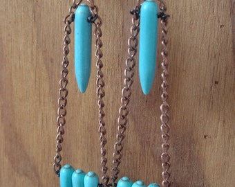 Tetrad Howlite Spike Earrings