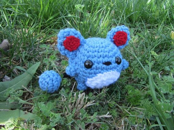Pokemon Chibi Amigurumi Pattern : Made to Order Crochet Chibi Pokemon Amigurumi Marill