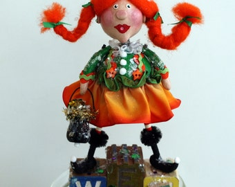 Patty the WEE Leprechaun - Whimsical St. Patrick's Day Collectible Folk Art Doll