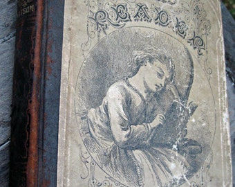 Antique childs book, antique reader book, illustrated reader, watson's reader, 3rd grade reader, rare school reader