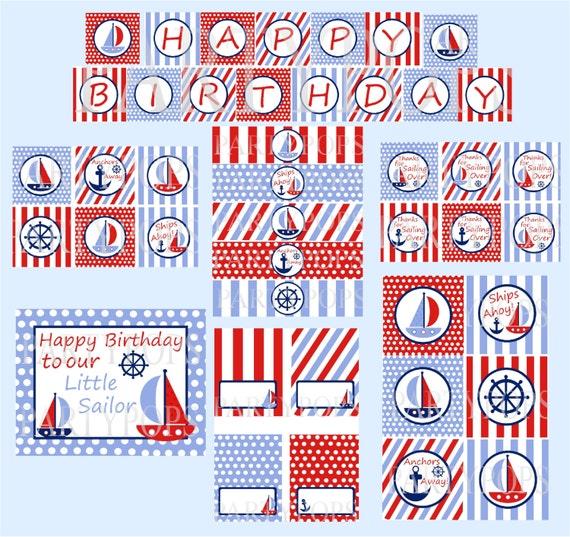 Art culos similares a n utica partido paquete digital for Articulos decoracion nautica