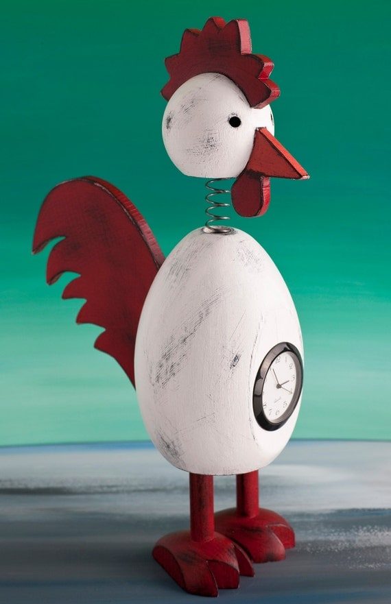 Rooster Clock Bobblehead