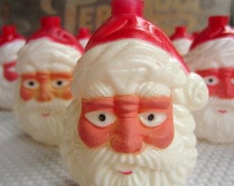 Vintage Santa Plastic Light Covers for Christmas String Lights