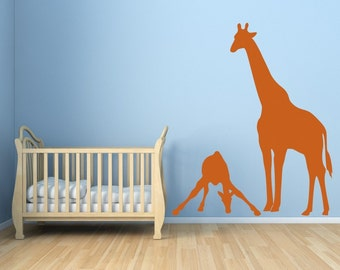 SALE. 1 Day Only. 50% OFF. Use Coupon Code CYBER50.Mom and Baby Giraffe Vinyl Wall Decal Sticker