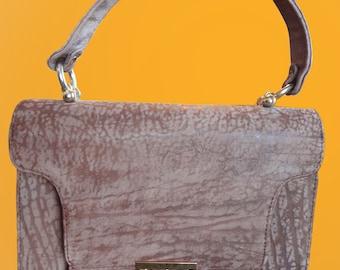 VINTAGE 1970s Bolsa Tan/Taupe Contessa Handbag