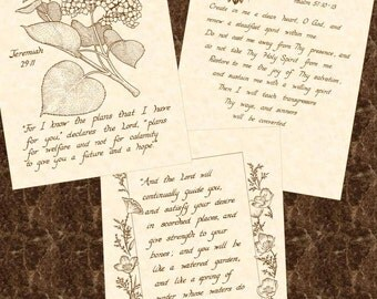 SALE --- 3 FOR 15 DOLLARS  --- Any 8 x 10 Hand Written Calligraphy Art Prints Natural Parchment Sepia Brown Ink Tan Beige For Her Him Home
