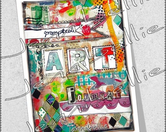 Prompted Art Journal by Jennibellie (Printable Version)