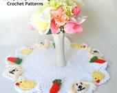 Easter Doily or Basket Liner Crochet Pattern pdf694