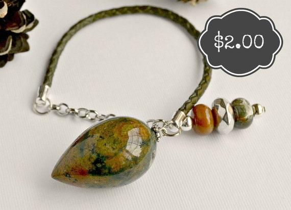 2 Dollar Pendulum  Fancy Jasper Pendulum  - Native Series
